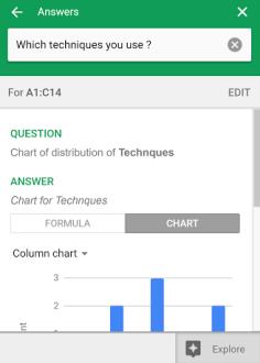 Fonction Explorer Google Sheets