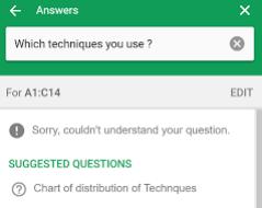 Fonction Explorer Suggestion de questions