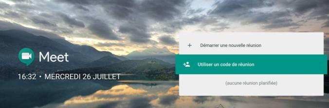 Visioconférence avec Hangouts Meet