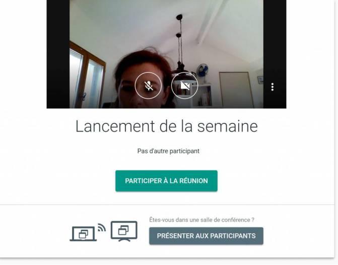 Réunion productive : partage d'écran