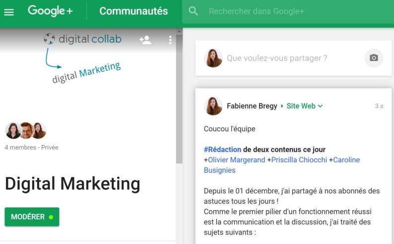 Communauté d'intérêt Google +