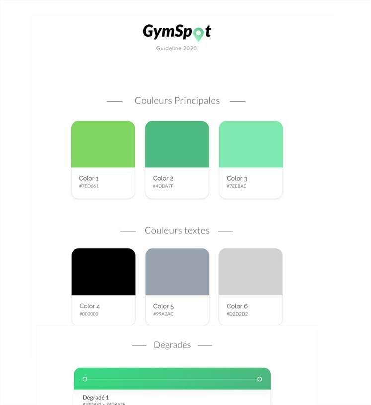 Gymspot Charte Graphique