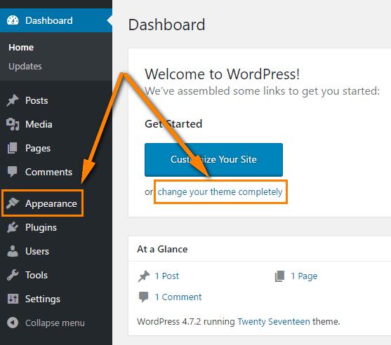 WordPress switch themes