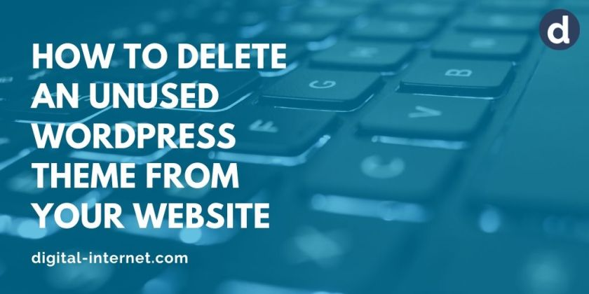 Social media banner image - how to delete an unused WordPress theme from your website
