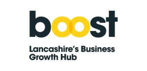 Boost black and yellow logo n white background