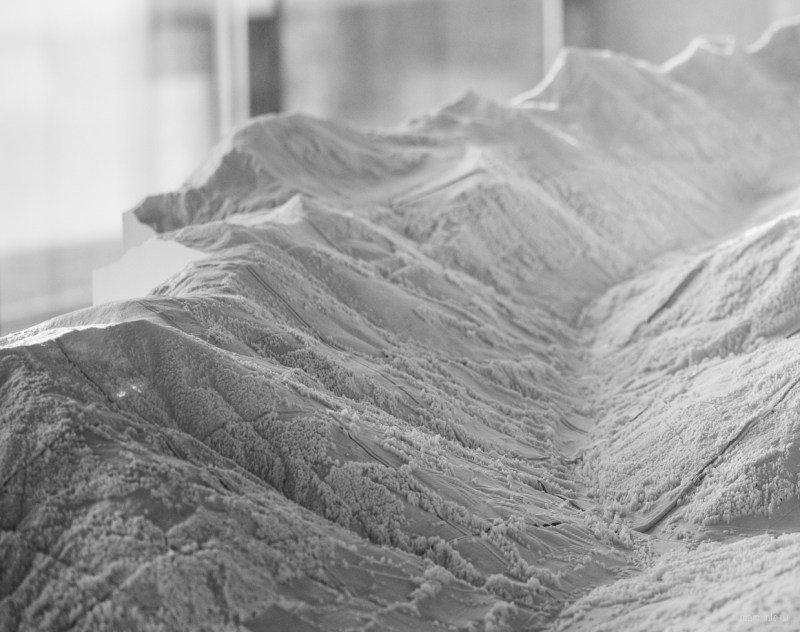 3d printed terrain model of the valley of alpbach