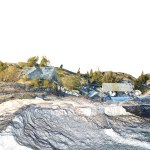 Digital Pointillism | Areal Photography to high res Point Cloud | Pilot Study Festvåg - Capturing Environment via UAV | Marc Ihle in Cooperation with GRID-IT Innsbruck | 2018