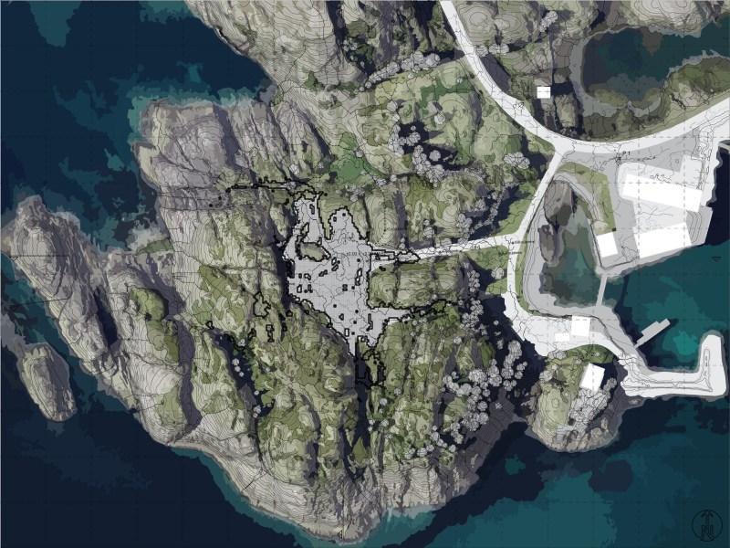 Site Plan | Terrain Design Information Model for Festvaag | Extrapolating Morphometric Identity | Marc Ihle | 2019