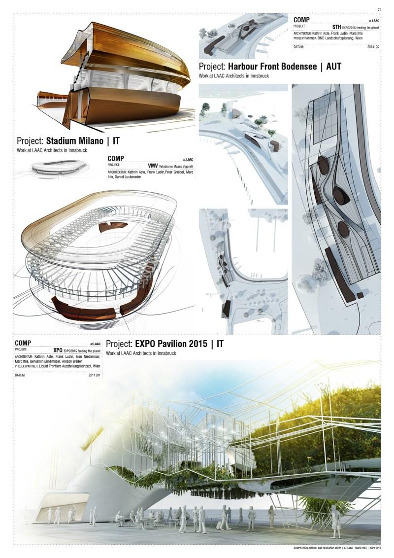 Competition Team-Work at LAAC Architekten Innsbruck, Austria | 2009 - 2015