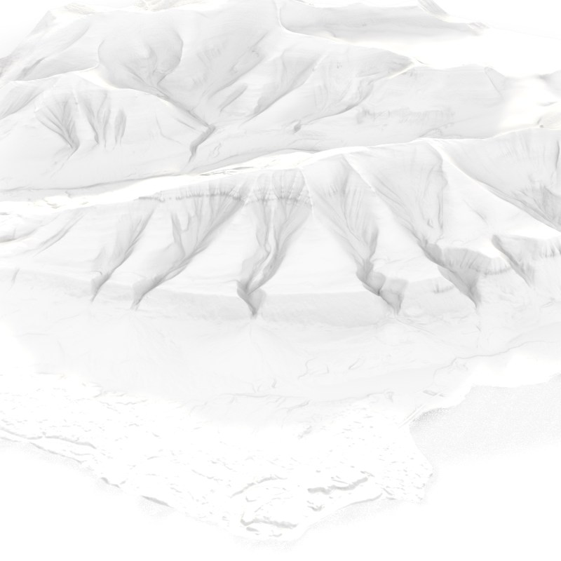 Arctic Terrain Sample of Svalbard | Digital Terrain Model and Information | 2019 | Marc Ihle