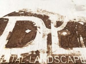 DL Logo | Laser Print on Wood | 2019