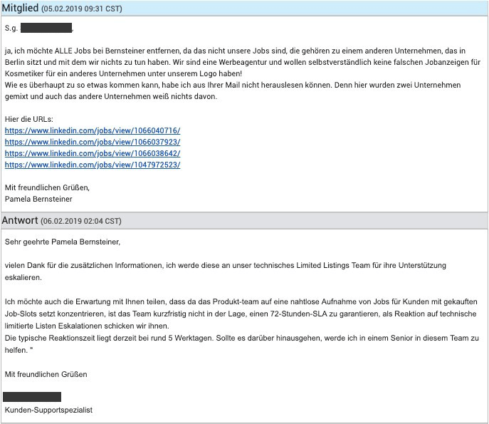 Linkedin_support-Hoelle-anwort-technik