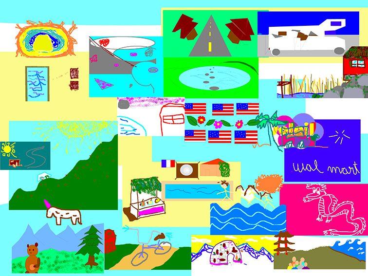 Idée animation fresque virtuelle