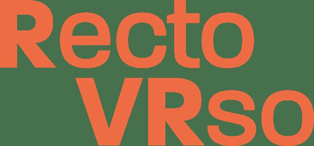 Programme et Logo du festival d'art numérique Recto_VRso Laval Virtual