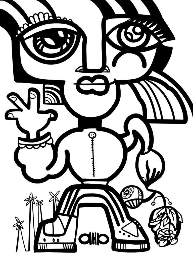 dessin digital par aNa artiste pour création d'un trophée personnalisé
