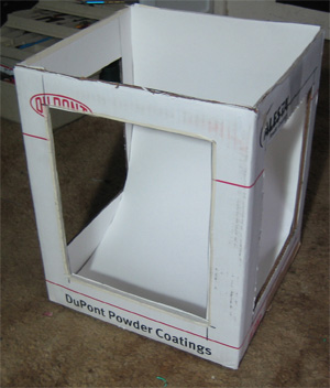 G) Cut your fabric to where it will cover the holes. Then cut a big piece to where it will cover the top of the box. & How to Make An Inexpensive Light Tent - DIY Aboutintivar.Com