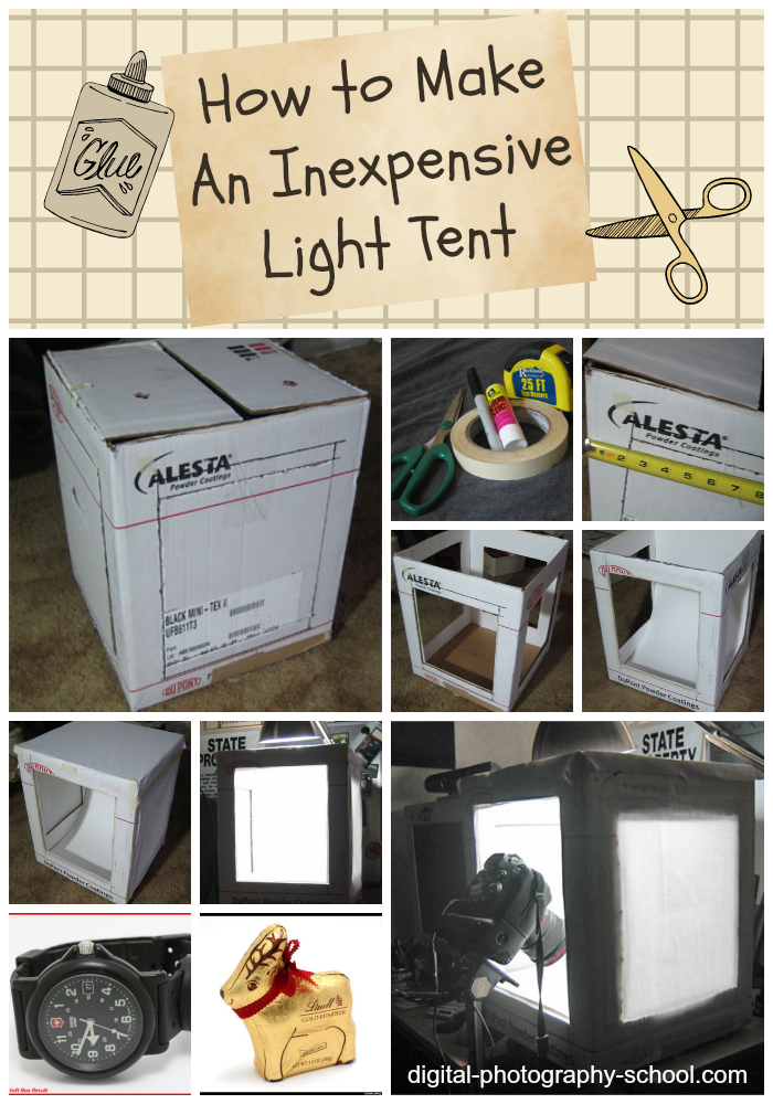 The following tutorial on constructing an Inexpensive Light Tent was Submitted by Jeffrey Bail. See Jeffreyu0027s Flickr Account here. & How to Make An Inexpensive Light Tent - DIY