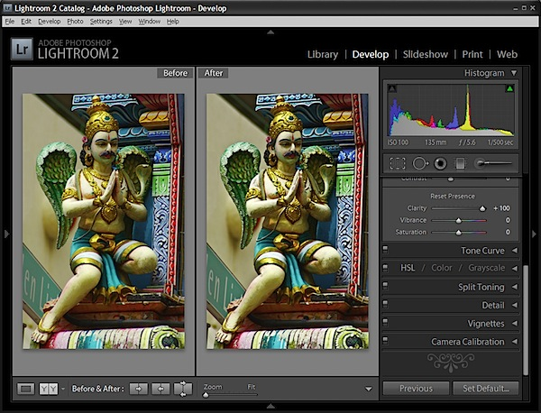 Making sense of Clarity, Vibrance and Saturation in Lightroom 2