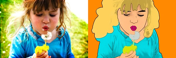 Creating Lichtenstein Inspired Portraits From Your Child's Photograph