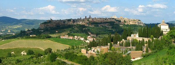 Panorama di Orvieto with the famous Duomo