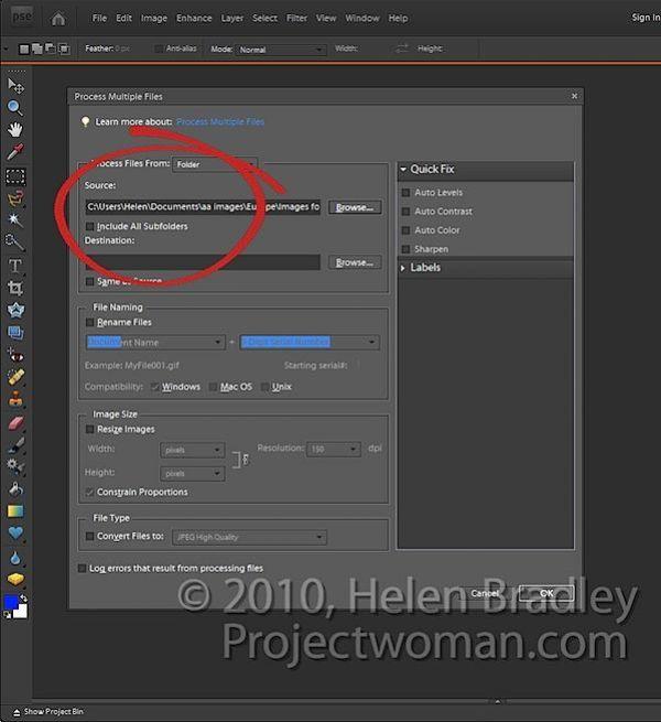 Batch Resising Photoshop Elements step1.jpg