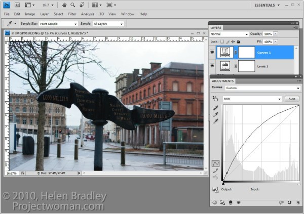 Photoshop: Applying Fixes using Adjustment Layers and Masks