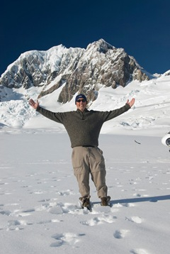 Gary On A Glacier In New Zealand