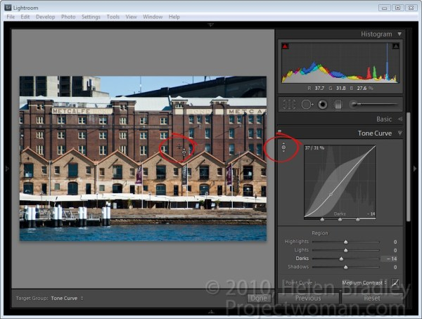 Targeted adjustments in Lightroom