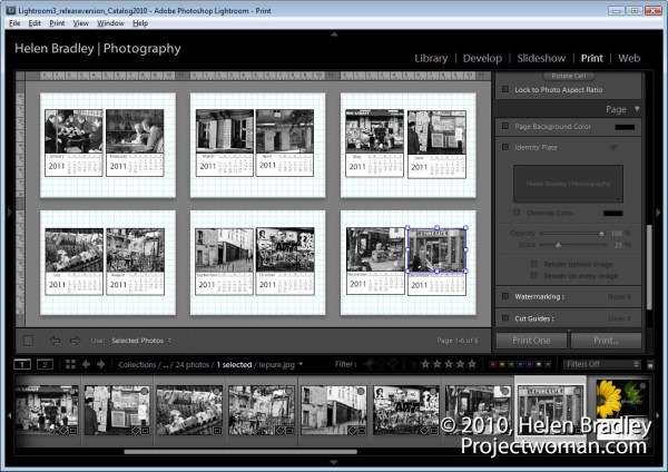 How to Create a Custom Calendar in Lightroom