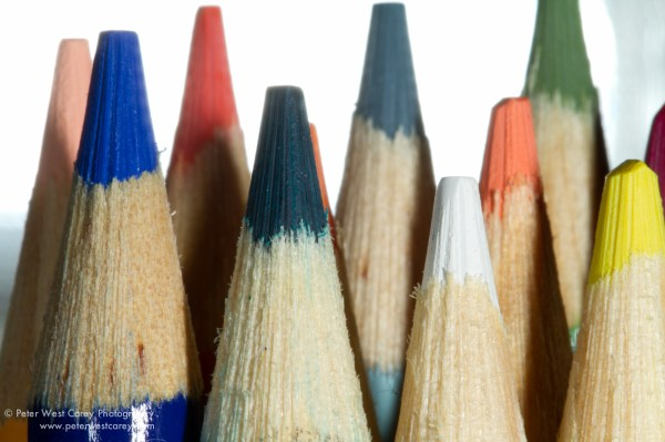 Image: Flash C held directly behind pencils, firiing into lens at +0 exp. adjustment