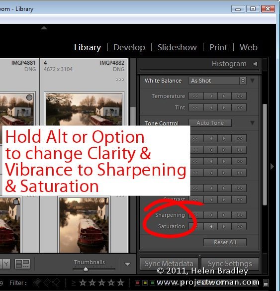 how to change lightroom devlop