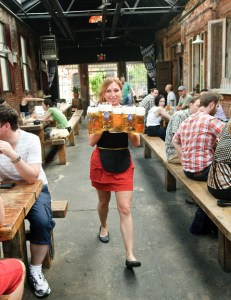 Image: Waitress at Radegast Hall, Brooklyn, NY
