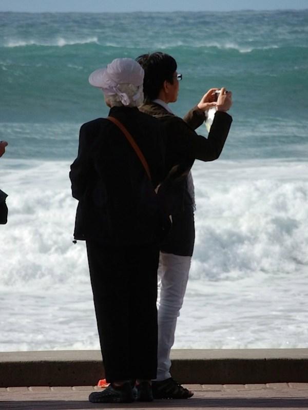 Woman tele beach 1.JPG