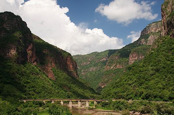 13 Train Tracks on Bridge Medium Zoom - Copper Canyon, Mexico - Copyright 2011 Ralph Velasco.jpg