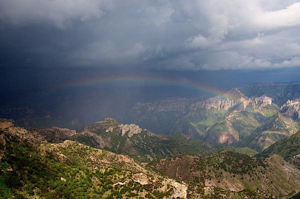 2 Rainbow and Canyon Landscape - Copper Canyon, Mexico - Copyright 2011 Ralph Velasco.jpg
