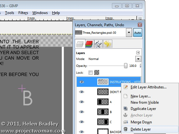 copy and paste layers gimp