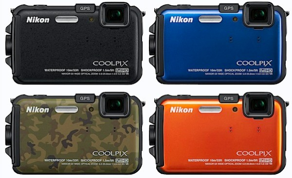 nikon-AW100 four colours.jpg