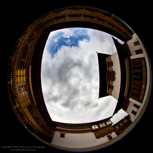Image: Looking Up, Paro Dzong, Bhutan