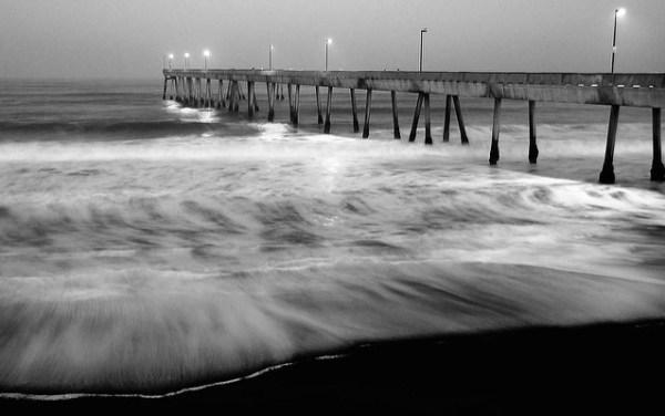 pre-dawn beach