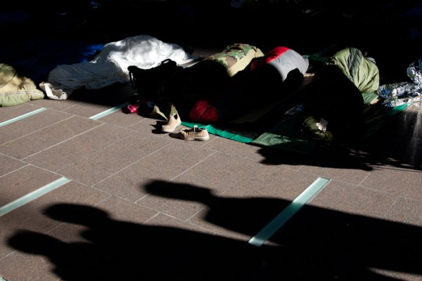 Image: Sleeping in Zuccotti Park, Occupy Wall Street.