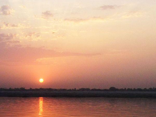 Image: Sunrise on the Ganges, Varanasi, India