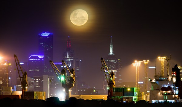 Moon over Melbourne
