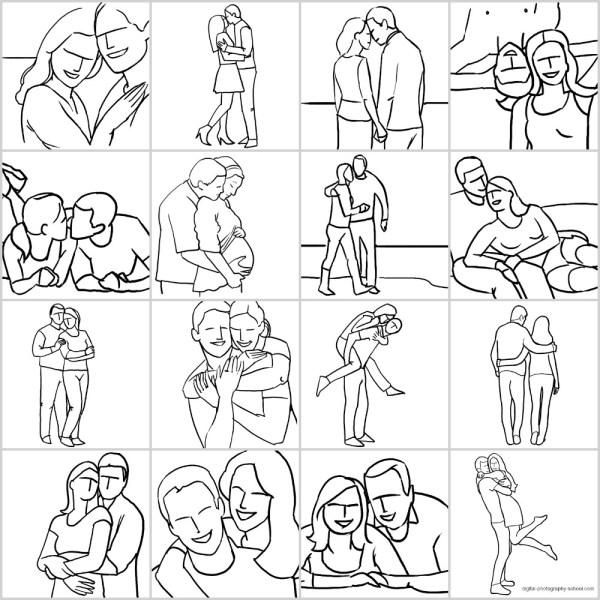 Guia de poses para fotografar casais