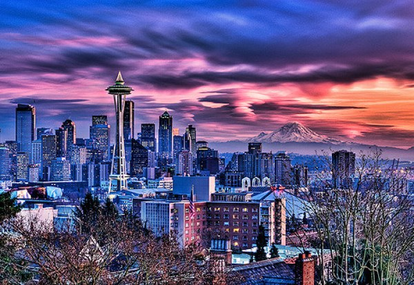 Blazing Seattle Sunset