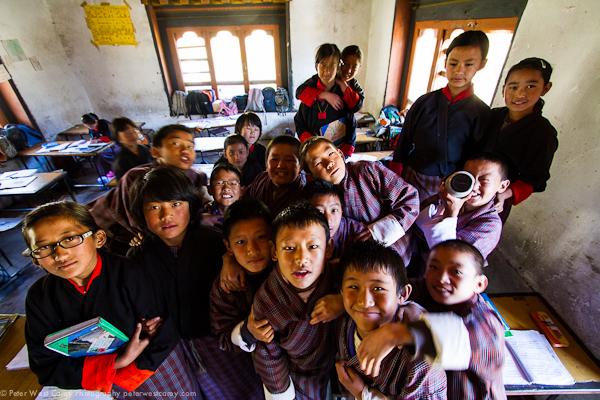 Image: 5th grade students in Bhutan