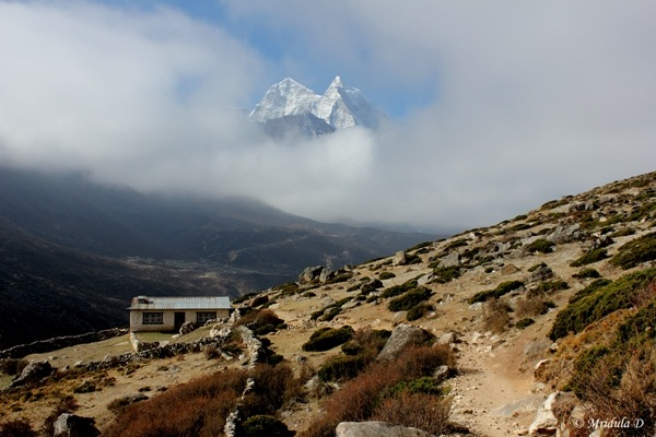 A Peak through the Clouds, Pheriche, Nepal.JPG