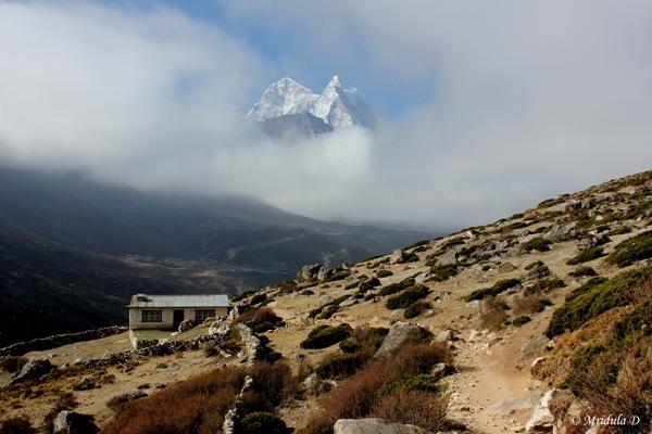 A Peak through the Clouds, Pheriche, Nepal.JPG