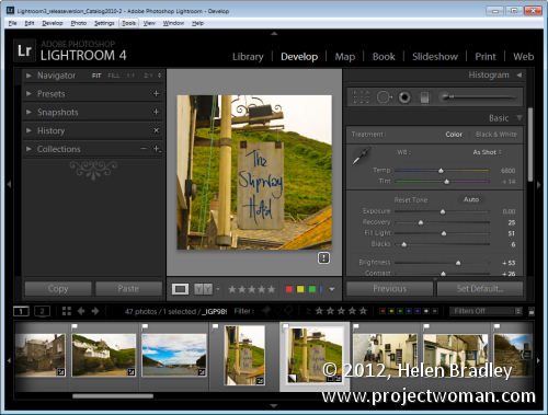 Lightroom process version 4