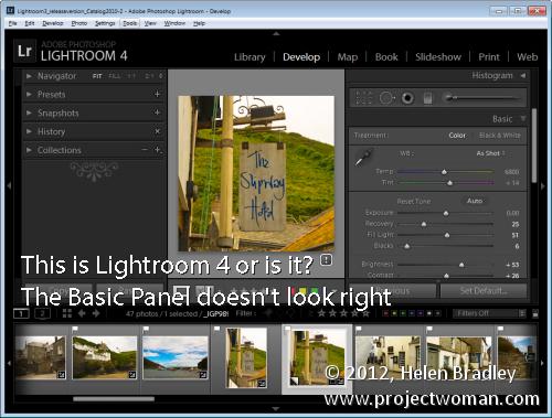 Lightroom process version opener