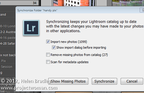 Lightroom synchronize folders